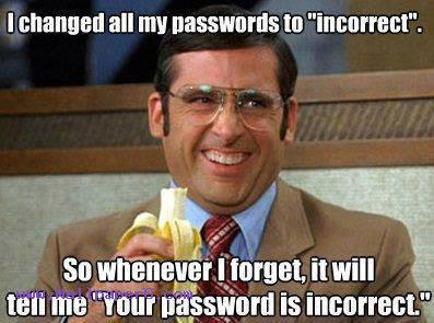 Password to incorrect