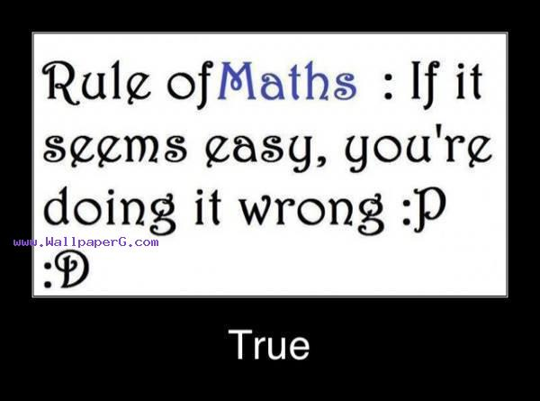 Rule of maths