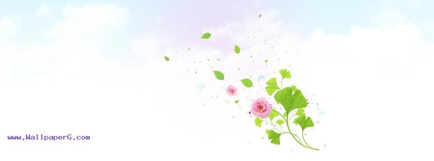 Pink flower fb cover