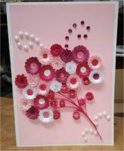 Sweet flowers on card