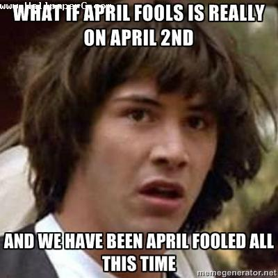 A day of april fool
