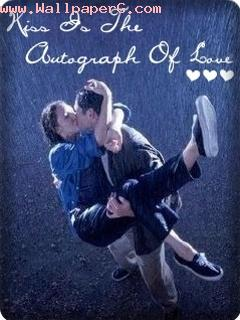 Kiss is autograph of love