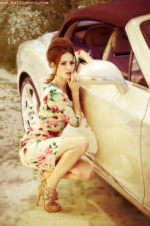 Girl and car ,wide,wallpapers,images,pictute,photos