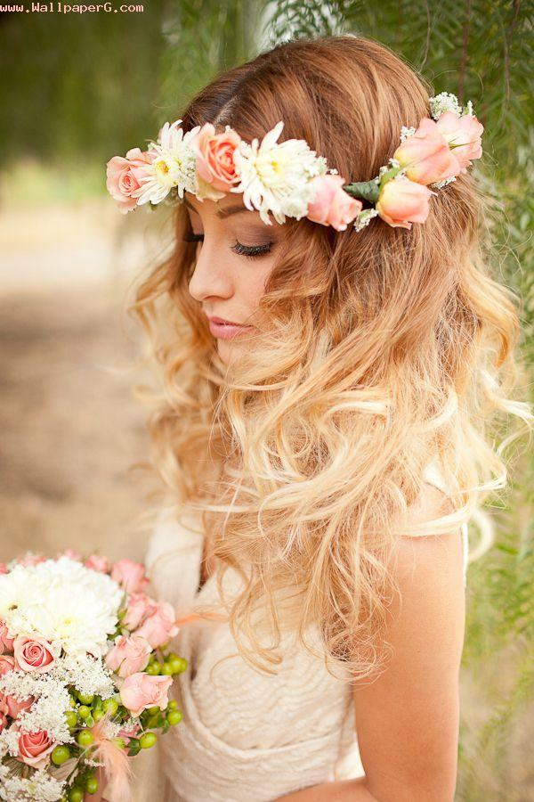 Flowery girl 1 ,wide,wallpapers,images,pictute,photos
