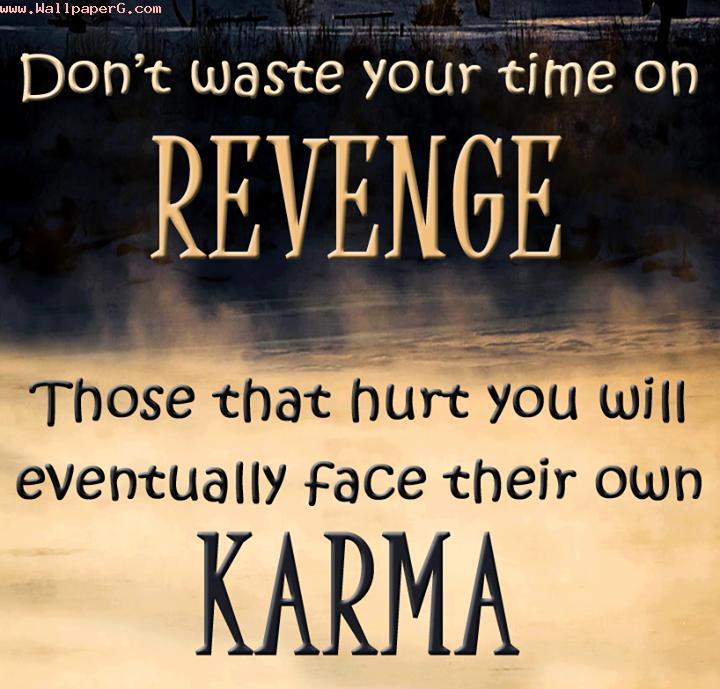 Revenge and karma