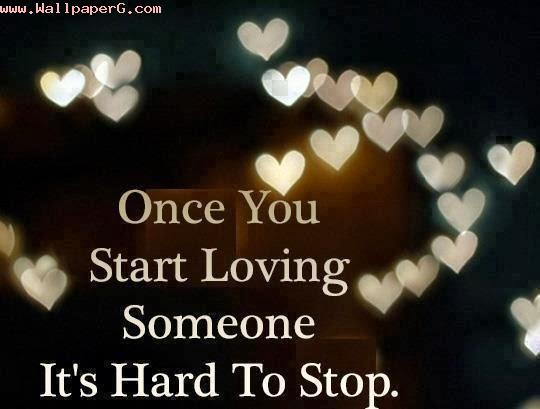 Its hard to stop