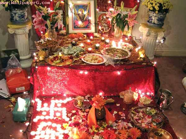 Puja place for diwali