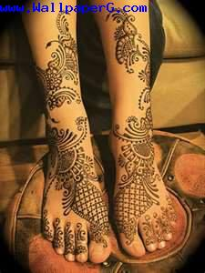 Karwa chauth feet design