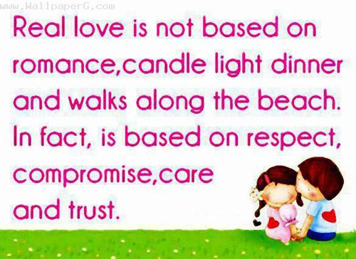 Love is not based on romance