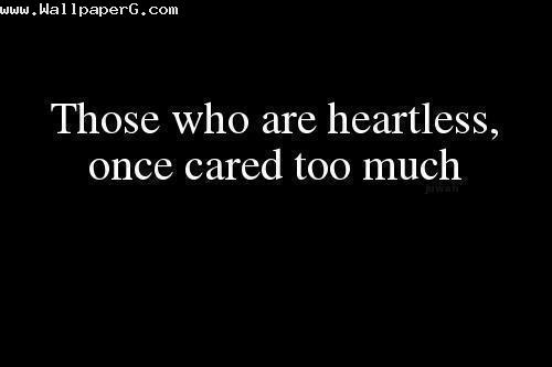 Those who are heartless