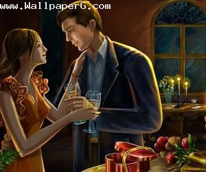 Romantic dinner with love ,wide,wallpapers,images,pictute,photos