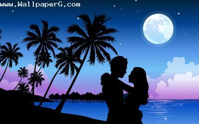 Romantic paradise lovers