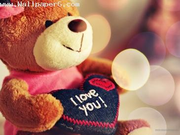 Teddy bear want to say i love you ,wide,wallpapers,images,pictute,photos