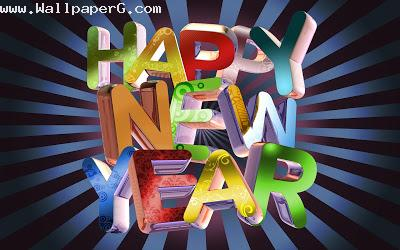 Happy new year 3d image