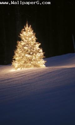 Christmas lightning tree