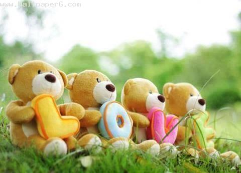 Cute teddy love