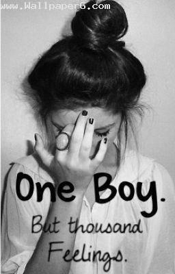One boy but thousand feelings