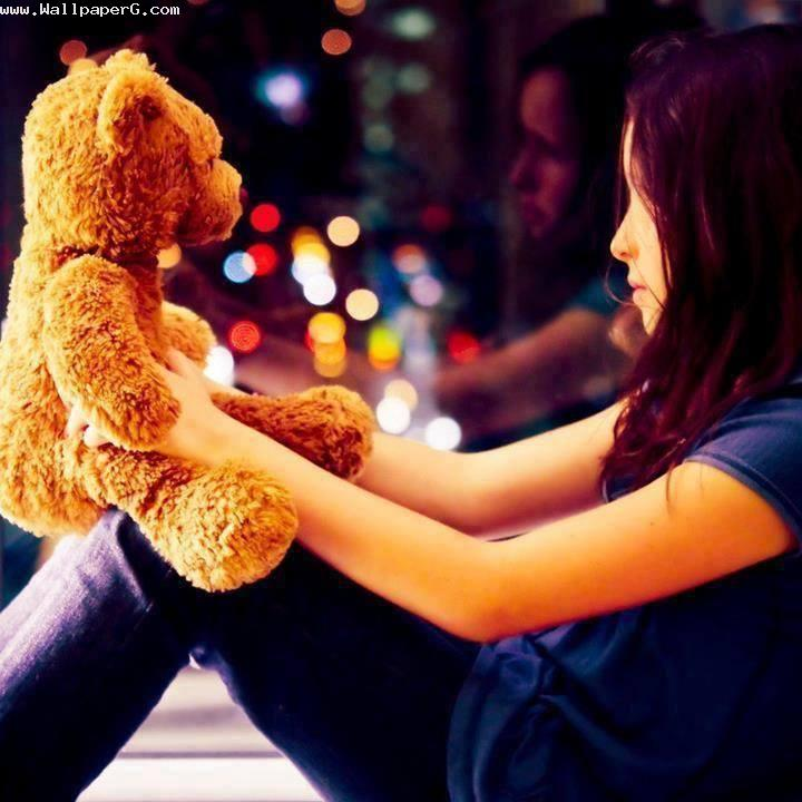 Girl with teddy bear 1 ,wide,wallpapers,images,pictute,photos