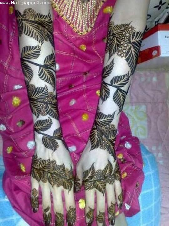 Leafy mehendi design ,wide,wallpapers,images,pictute,photos