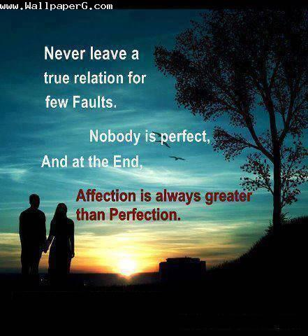 Affection is better than perfection