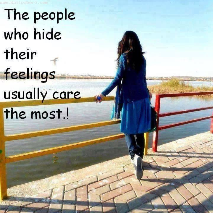 People who hide feelings
