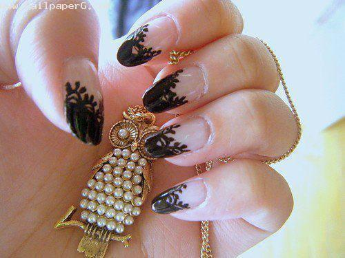 Black nail art ,wallpapers,images,