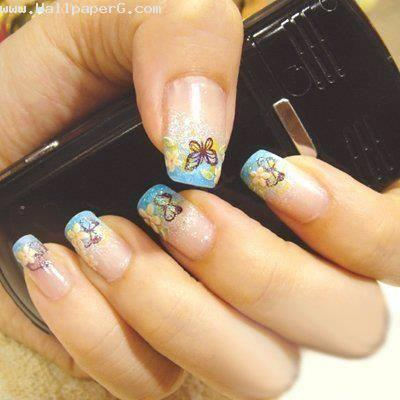 Blue nail art ,wallpapers,images,