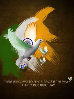 Happy republic day peace