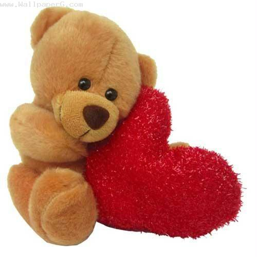 Sweet teddy bear with heart ,wide,wallpapers,images,pictute,photos