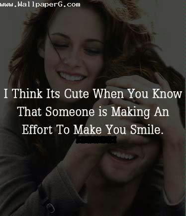 Effort to make you smile