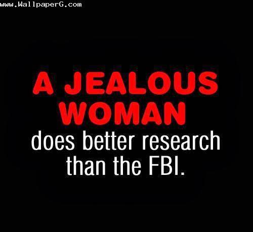 A jealous women