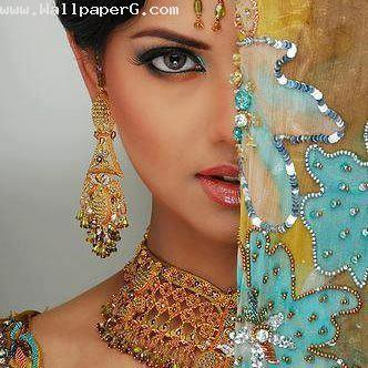 Beautiful girl in indian outlook