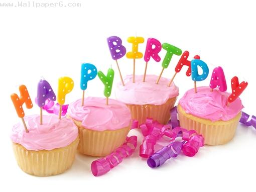 Birthday muffins ,wide,wallpapers,images,pictute,photos