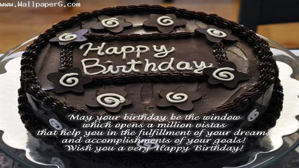Chocolate birthday cake ,wide,wallpapers,images,pictute,photos