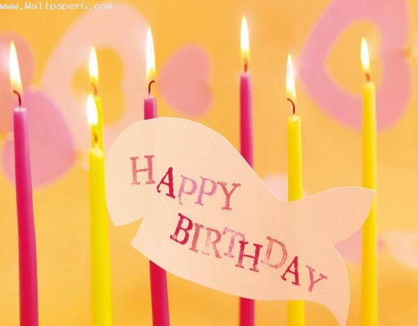 Birthday candles ,wide,wallpapers,images,pictute,photos