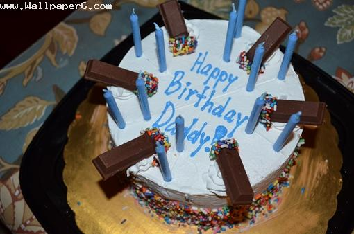 Blue birthday cake ,wide,wallpapers,images,pictute,photos