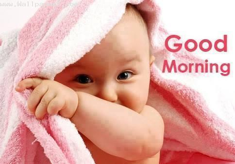 Baby wishing good mornng ,wide,wallpapers,images,pictute,photos