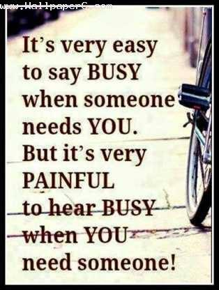 Painful to hear busy