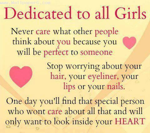 Dedicated to all girls