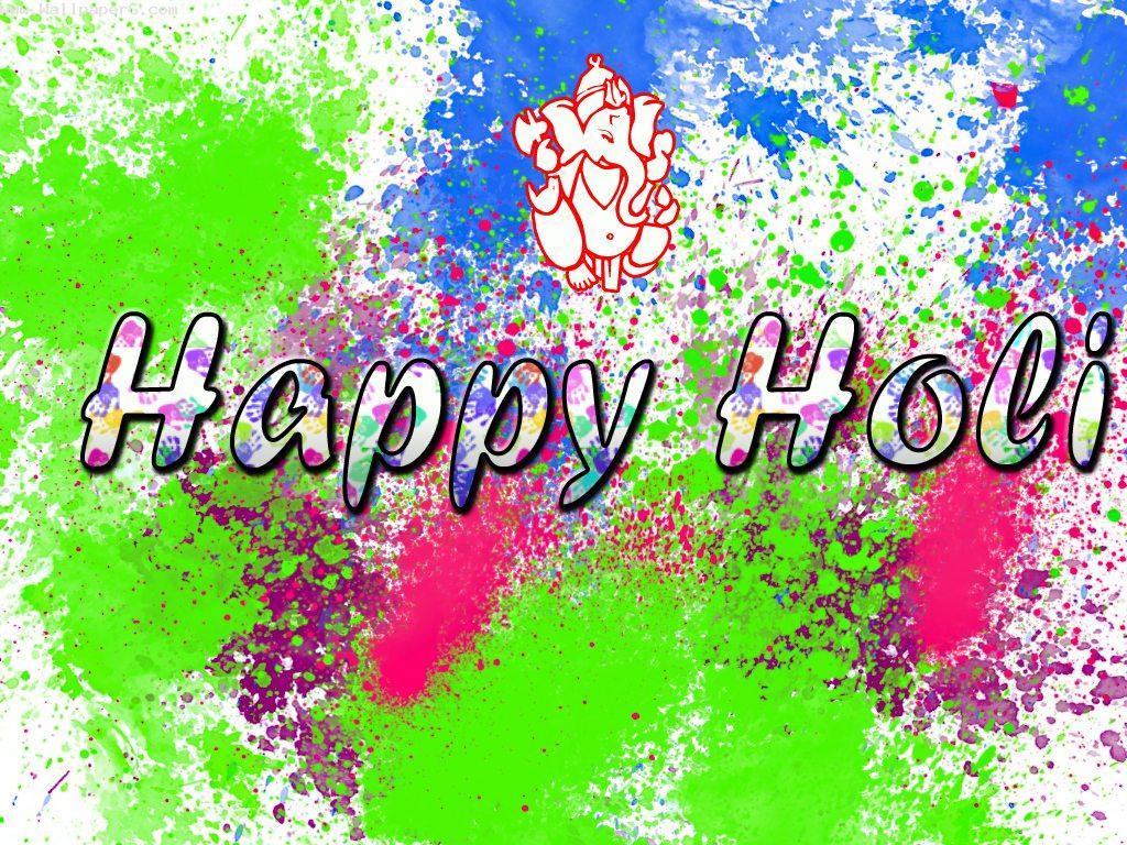 Colorful holi