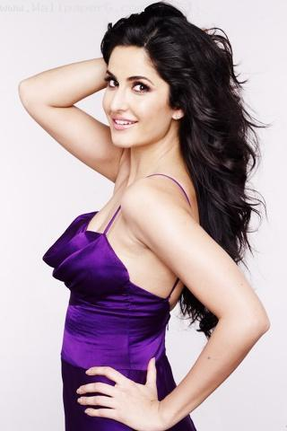 Katrina in purple outfit