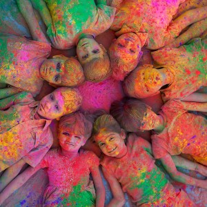 Holi color design with boy and girl ,wide,wallpapers,images,pictute,photos
