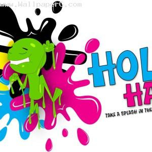 Splash in the color of ho