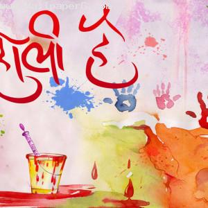 Red splash of holi with pickaari ,wide,wallpapers,images,pictute,photos