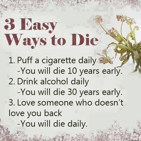 3 easy ways to die