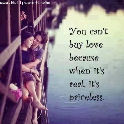 You cannot buy love