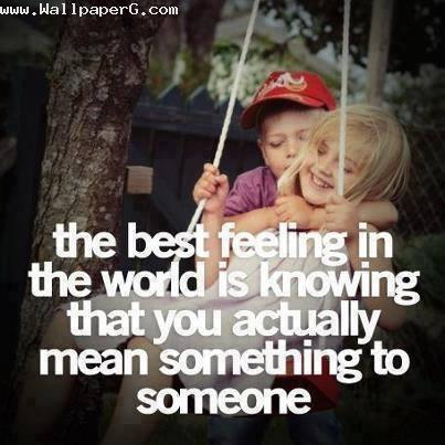 The best feeling in world
