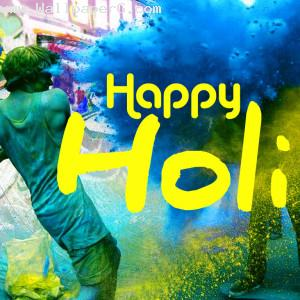 Happy lovely holi image
