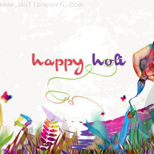 Happy holi creative wish