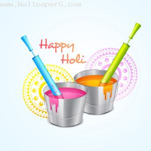 Water color in bucket on holi